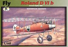 ROLAND D.VI B W/BENZ ENGINE (KAIZERLICHE LUFTWAFFE MARKINGS) 1/48  FLY RARE!