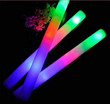 200 Pack - 18 Foam Sticks, LED Flashing Glow Foam Sticks, Light Up, Wands, DJ