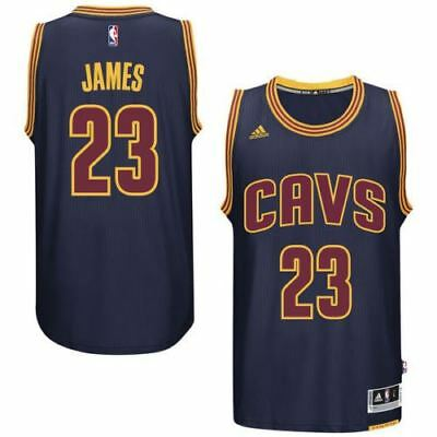 watch d6a5d 03547 Cleveland Cavaliers LeBron James #23 Navy Blue Swingman Jersey | eBay