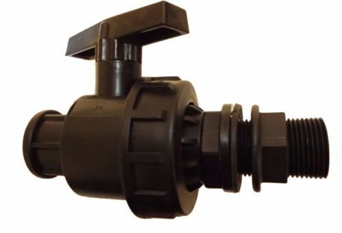 """1/""""BSP MDPE Water Pipe hozelock compatible Storage Tank Water butt connector"""