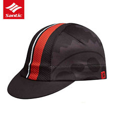 Santic Cyclinng Bike Cycling Caps Soft Inelastic Sun Protective Hats Black Red