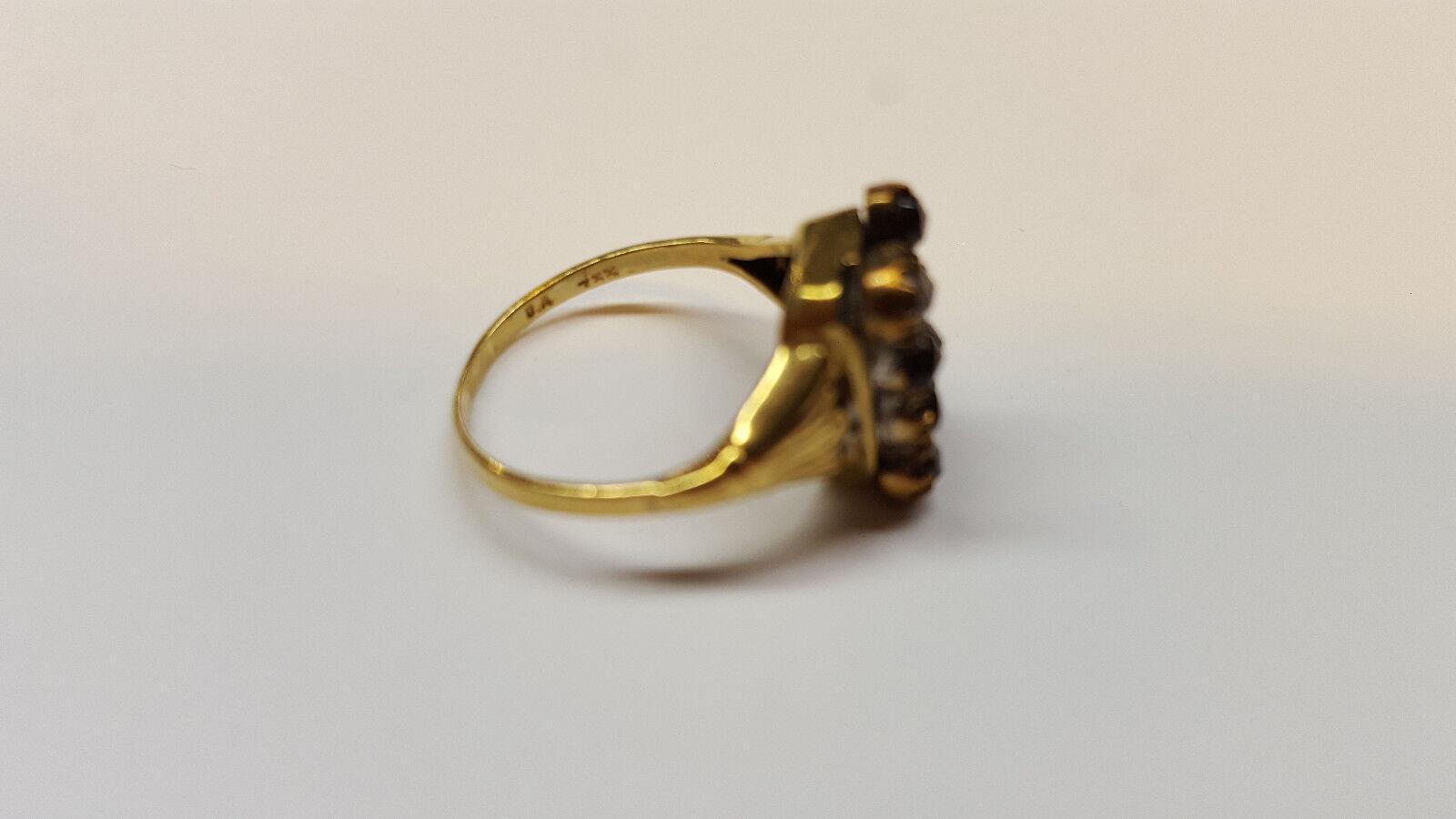 Boema età Granat ororing 333 egli oro ANELLO Granat gioielli gioielli gioielli 8 CARATI b7c569
