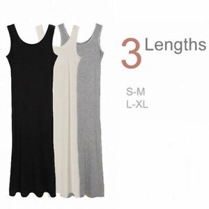 Women-039-s-Soft-Stretchy-Sleeveless-Extra-Long-Loose-Midi-Cami-Tank-Long-Slip-Dress