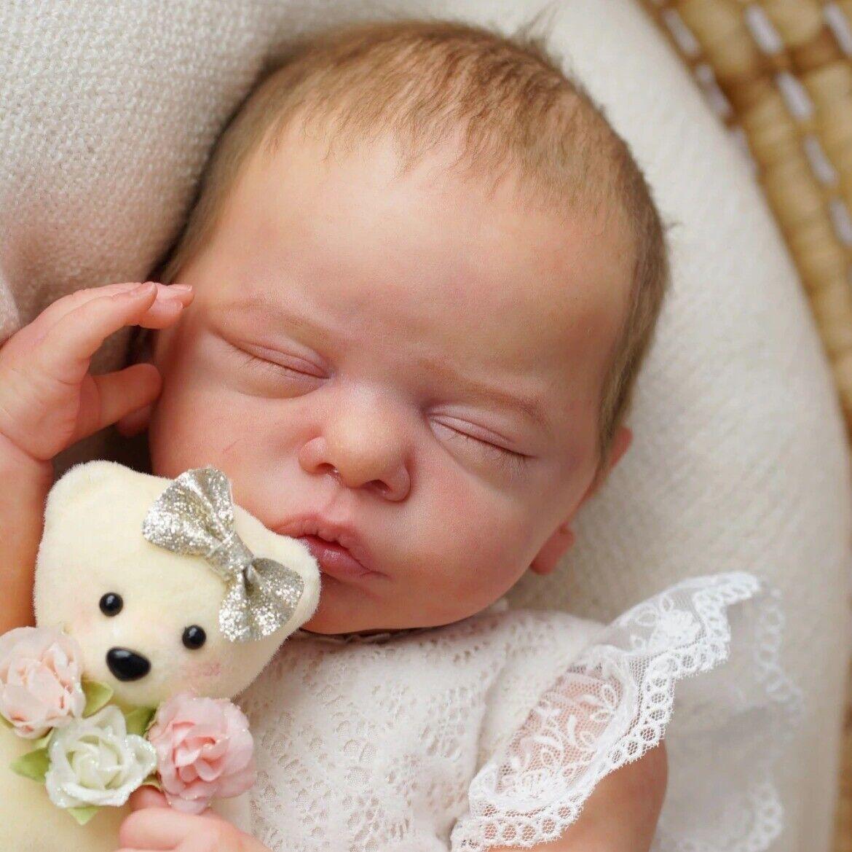 Bebe Reborn Kit Romy 19 In Vinyl Sleeping Baby Blank Unpainted Unfinished Molds