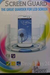 Screen GUARD Protector Schutzfolie für Samsung Galaxy S4 / i9500 Sofortversand!