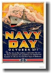 NAVY-DAY-NEW-Vintage-Reproduction-World-War-2-Art-Print-POSTER