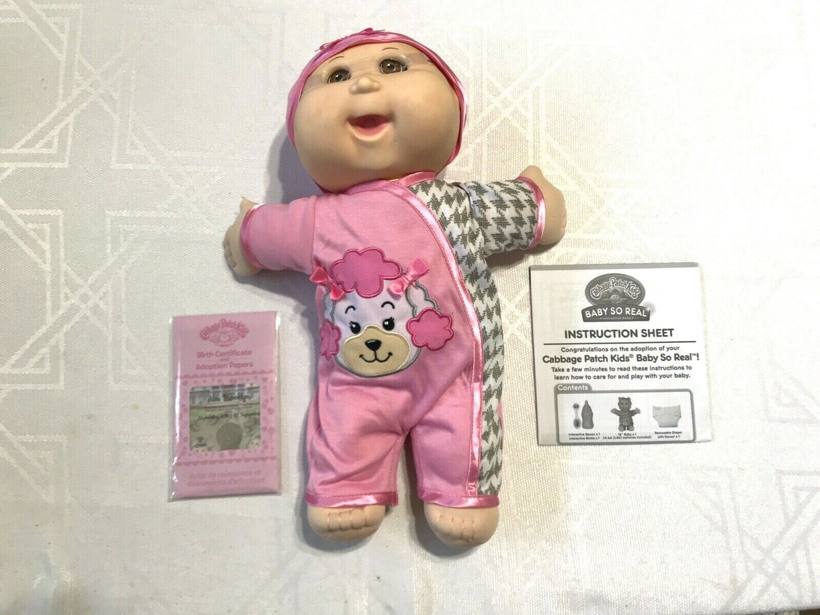 2016 Cabbage Patch Kids Baby so Real Interactive Baby-kristen Magnolia-new  for sale online | eBay