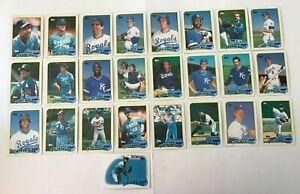 1989-KANSAS-CITY-ROYALS-Topps-COMPLETE-Baseball-Team-SET-25-Cards-BRETT-JACKSON