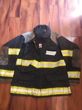 Firefighter Cairns Turnout Bunker Coat 44x32 Black Halloween Costume