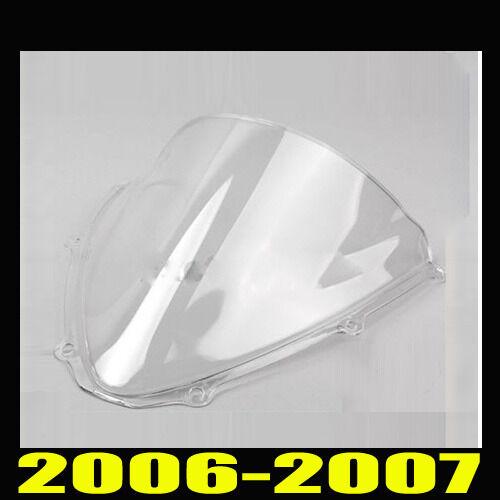 New Double bubble Shield For SUZUKI GSXR GXS-R 600 750 2006-2007 K6 Windscreen