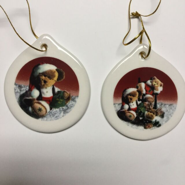 BOYD'S BEARS Collection Porcelain Christmas Ornaments Set ...
