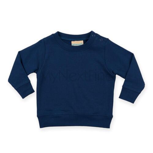 Larkwood Crew Neck Sweatshirt With Shoulder Poppers