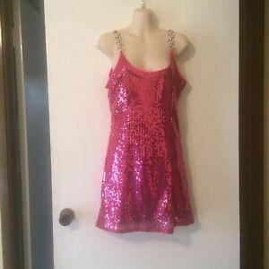 PinkSequin-Cocktail-Formal-Dress