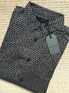ALL-SAINTS-WASHED-BLACK-034-GIRARD-034-FLORAL-LONG-SLEEVE-SHIRT-XS-S-M-NEW-amp-TAGS