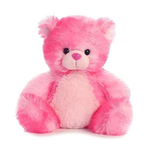 "7"" Pink Teddy Bear "" Cherrydrop"" Stuffed Animal Aurora Plush 01709"