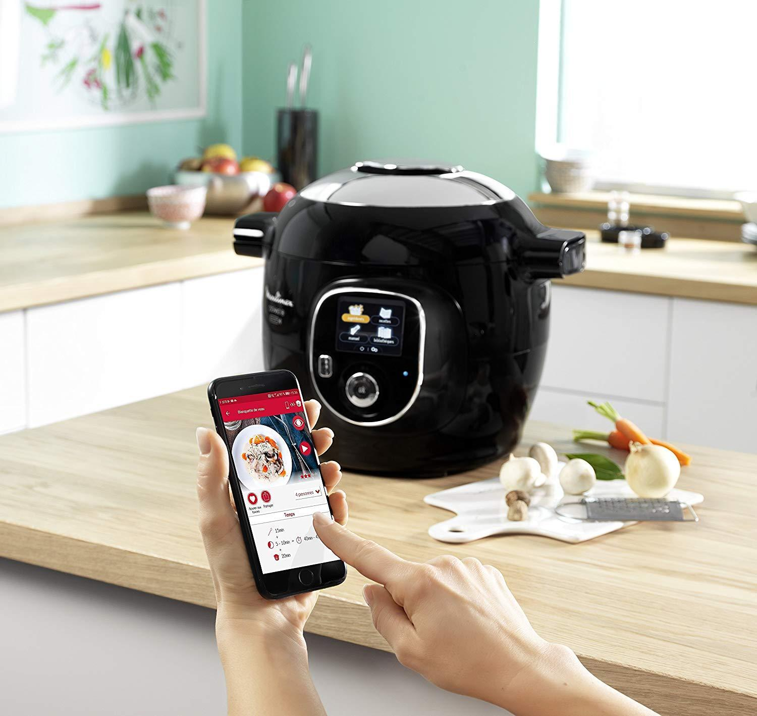 Moulinex Cookeo Connect CE855800 Robot kitchen Connects to Tablet or Smartphone