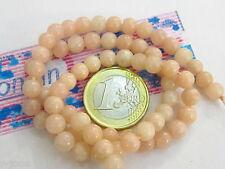 1 filo di 70  pietre in opale rosa naturale lucido di 6 mm lungo 40 cm