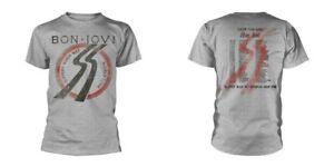 Bon-Jovi-resbaladizo-Cuando-Mojado-Tour-nuevo-para-hombre-Front-amp-Back-Print-T-shirt