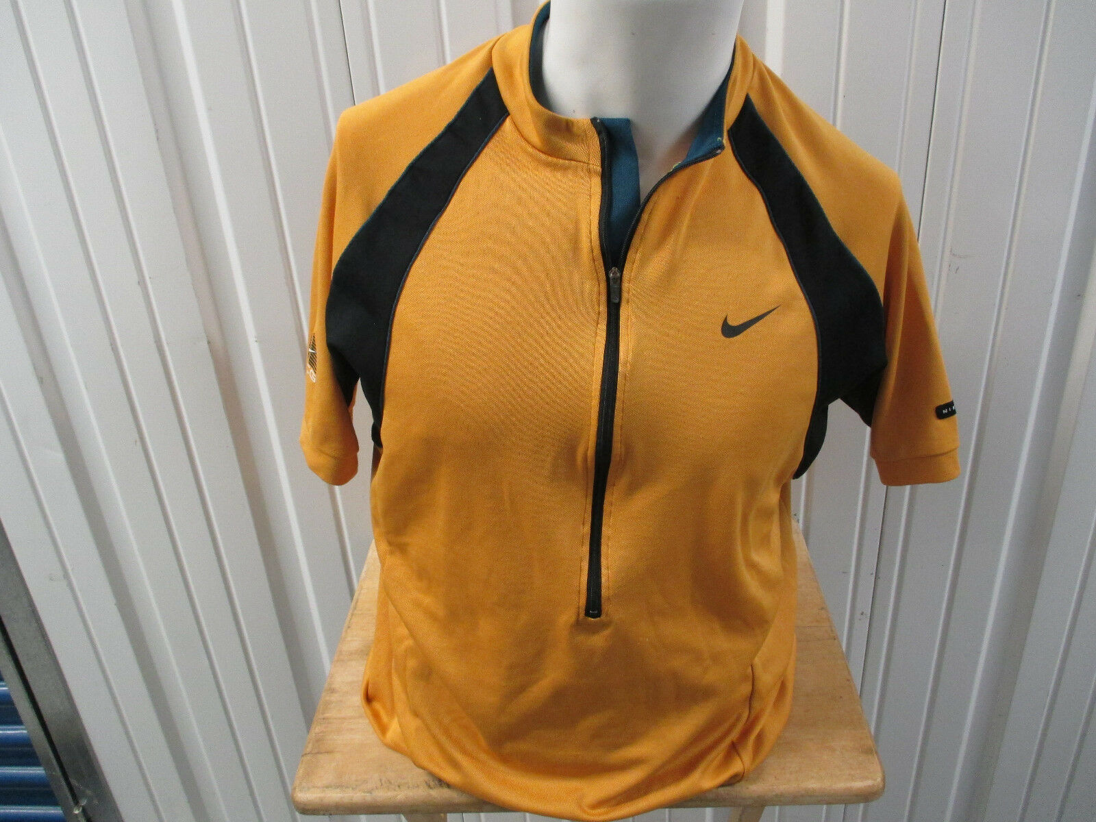 VINTAGE NIKE x ACG CYCLING MUSTARD YELLOW  DARK TEAL LARGE JERSEY 90s 00s OG LOGO  special offer
