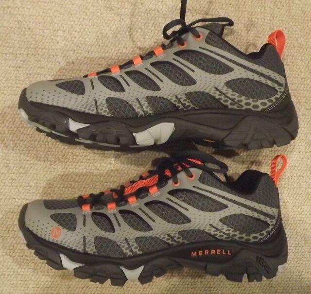 4f2f938f6a6 Men Merrell Moab Edge J35427 Grey Hiking Vibram Outsole Slip on ...