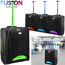 Cabin Hand Suitcase Luggage Bag Travel Wheeled Lightweight Trolley Holdall New