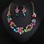 Women-Fashion-Bib-Choker-Chunk-Crystal-Statement-Necklace-Wedding-Jewelry-Set thumbnail 27