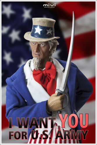 NEW MiVi I WANT YOU Uncle Sam USA Uncle Sam 1//6 Figure
