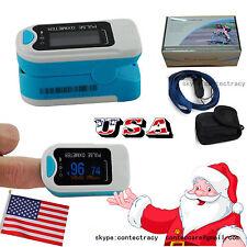 us seller Fingertip Pulse Oximeter,SpO2,Heart Rate,Oxygen Saturation,blue,FDA,CE