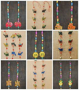 Elephant Wall Hanging unique indian handmade elephant wall hanging door hanging bell six