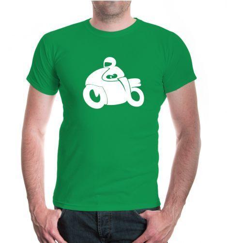Señores unisex manga corta t-shirt Motorbike motociclismo vehículo motivo Biker