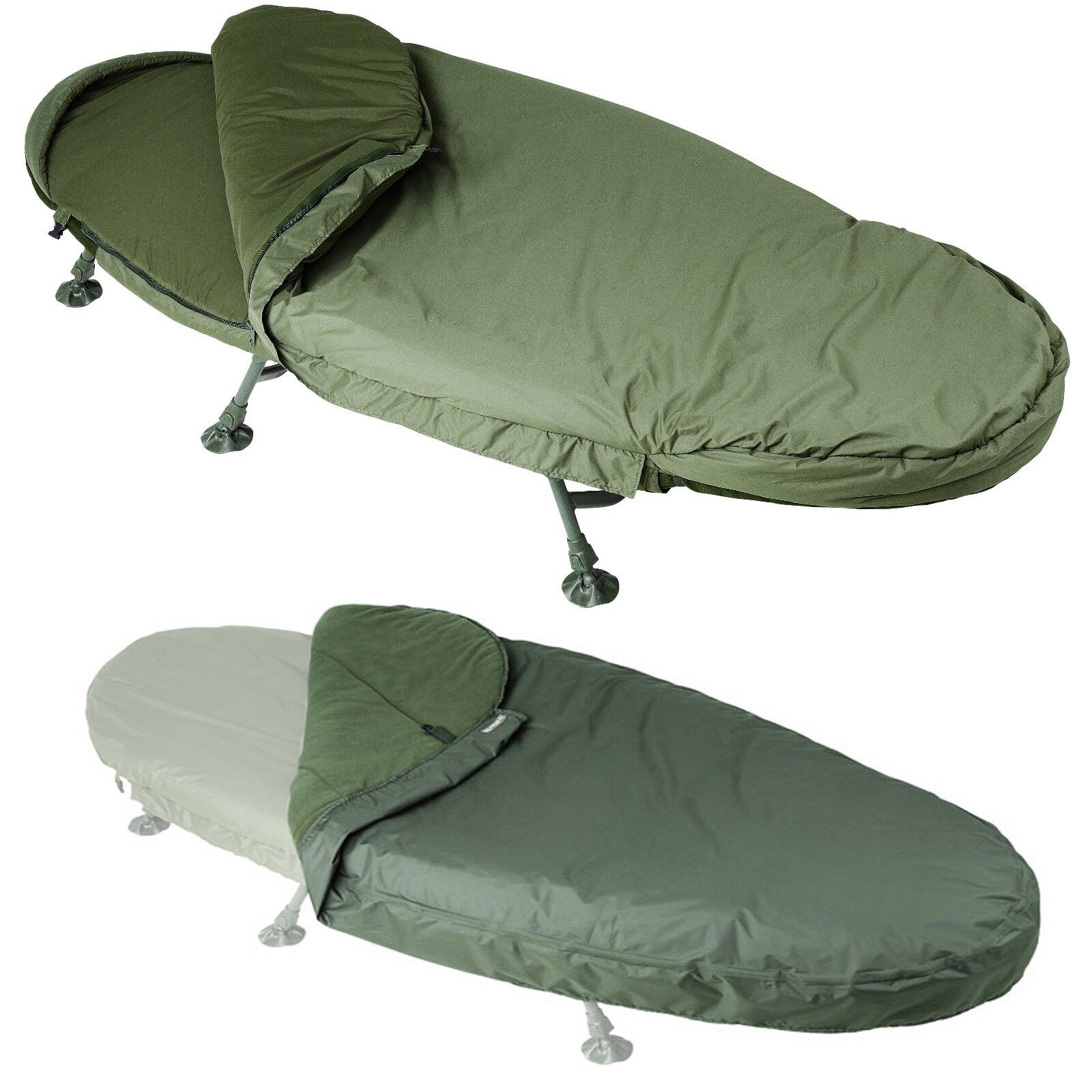 Trakker Levelite Oval Complete Bed & Bag System Fishing Bedchair + Cover