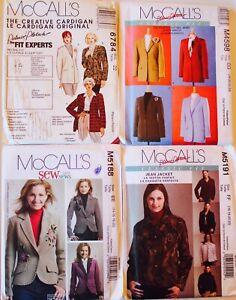 Womens Plus Size FLEECE JACKET COAT CAPE VEST  Sewing Pattern UC U PICK