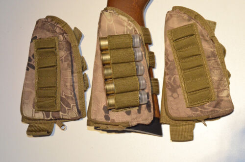 Rifle or Shotgun Buttstock Shell Ammo Pouch /& cheek rest Many Camouflage colors