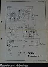 SABA Transcontinent EK  nur Schaltplan ohne echtem Service Manual