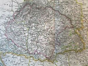 Hungary-Slavonia-Croatia-Ungarn-Wallachia-Dalmatia-1866-Stieler-transition-map