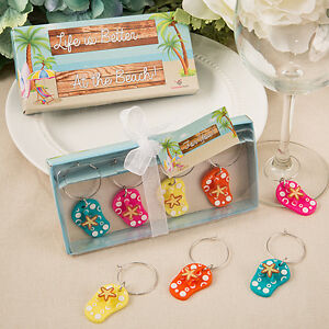 image is loading set of 4 colorful flip flop wine charms