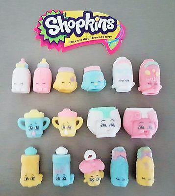 Shopkins Season 2 Fluffy Baby White Nappy Dee **IN BLIND BAG** shopping bag!!