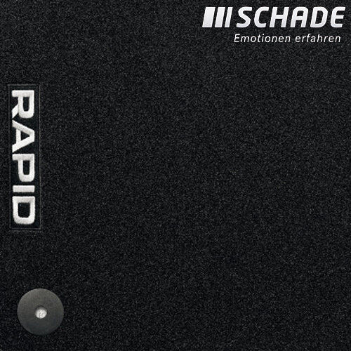 Original Skoda Fußmatten Satz Textil Standard Rapid Lim /& Spaceback 5JB061404E