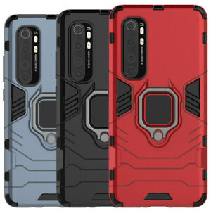 For-Xiaomi-Mi-Note-10-Lite-Rugged-Armor-Shockproof-Ring-Holder-Stand-Case-Cover