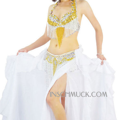Skirt 11 Colors Belt A001 Professional Belly Dancing Costume 3 Parts BRA