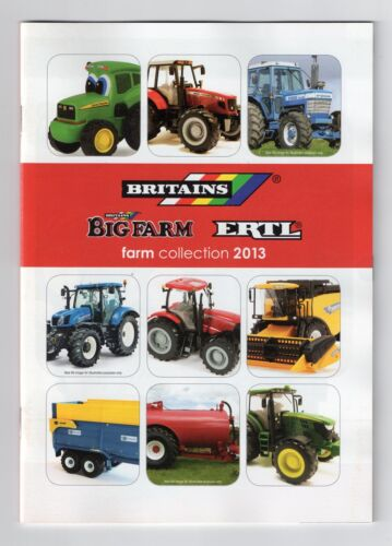 BRITAINS NEW CUSTOMER A5 2013 FARM TOYS CATALOGUE,tractors,trailers,combines