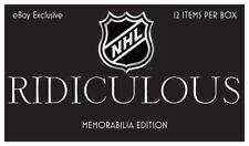 NHL Hobby Box RIDICULOUS Memorabilia Edition 12 item per box Hockey with COA