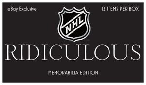 NHL Hobby Box - RIDICULOUS Memorabilia Edition - 12 item per box - Hockey + COA