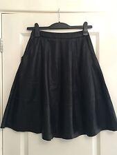 Lovely Women's ASOS Black Leather A Line Flippy Skirt UK 6 Worn Once