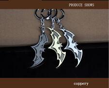 Lot 50 x Super Hero Dark Knight Bman Bat Metal Ring Keychain Pendant Key Chains