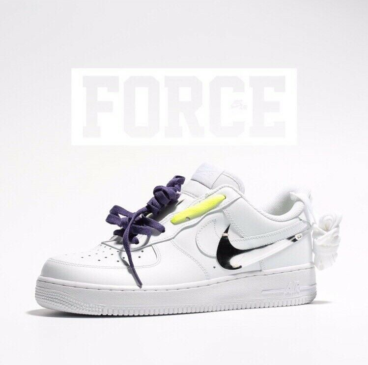 NIKE AIR FORCE 1 'MAKERS STUDIO' 2017 - WHITE WHITE - COMPLEX CON