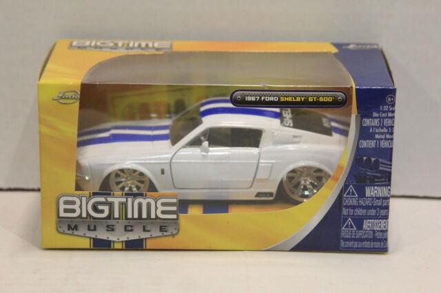 """1967 Shelby GT500 White Die Cast Metal Model Car 5/"""" New In Box"""