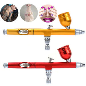 Dual-Action-Gravity-Feed-0-3mm-Spray-Airbrush-Gun-Nail-Art-Paint-Tattoo-Tool