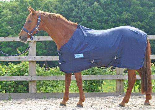 Shetland Tailles 3/' 0 7/' 0 Maxima mélange coton été Feuille-Bleu Marine-cheval poney