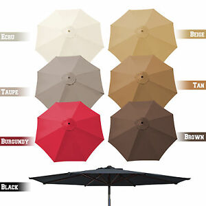 Image Is Loading 9ft 8 Rib Patio Umbrella Cover Canopy Replacement